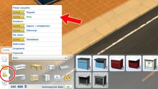 Drugi sposób to korzystanie z obiektów posegregowanych według typu (trzecia ikonka) np - Urządzanie domu | Dom Sima - The Sims 4 - poradnik do gry
