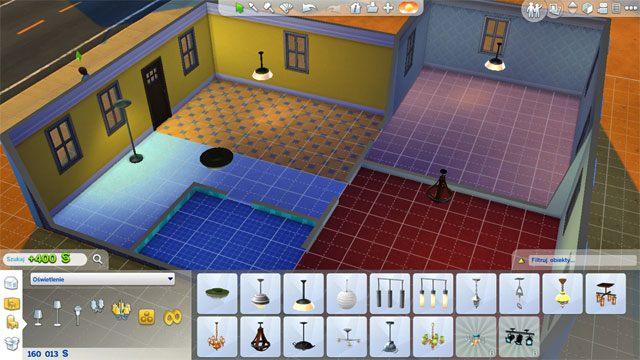 W pierwszej fazie wykańczania domu zakup do każdego z pomieszczeń jakieś podstawowe oświetlenie - Urządzanie domu | Dom Sima - The Sims 4 - poradnik do gry