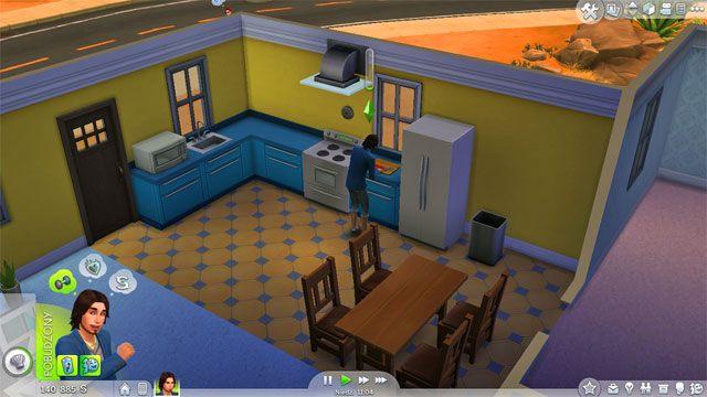 Jednym z kluczowych pomieszczeń jest kuchnia w początkowej wersji połączona z jadalnią - Urządzanie domu | Dom Sima - The Sims 4 - poradnik do gry