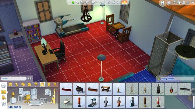 Jeśli chcesz możesz wydzielić sobie pomieszczenie na wszelkie przyrządy, które będą służyły Ci do rozwoju umiejętności Simów - Urządzanie domu | Dom Sima - The Sims 4 - poradnik do gry