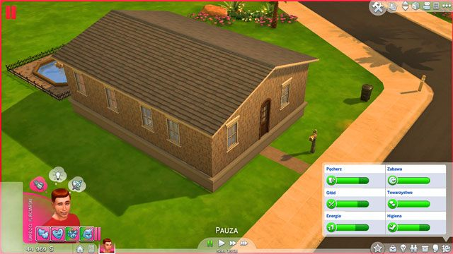 Fundamenty automatycznie wyrosną pomiędzy podłożem a domem, który to powędruje wyżej - Rozbudowa domu | Dom Sima - The Sims 4 - poradnik do gry