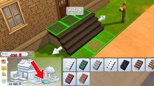 Pamiętaj że przy istnieniu fundamentów musisz do każdego wejścia do domu dorobić schody - poziom podłogi wszak się podniósł - Rozbudowa domu | Dom Sima - The Sims 4 - poradnik do gry