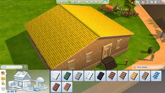 Jeśli to ci nie wystarczy, albo chcesz po prostu rozbudowywać dom w górę a nie na boki możesz wybudować kolejne (i potem kolejne) piętro - Rozbudowa domu | Dom Sima - The Sims 4 - poradnik do gry