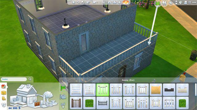 Następnie wykończ przestrzeń dodając barierki, drzwi na taras oraz podłogę - Rozbudowa domu | Dom Sima - The Sims 4 - poradnik do gry