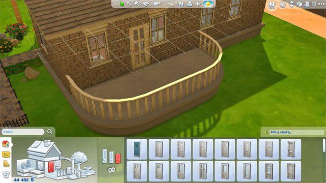 Możesz go także rozbudowywać o kolejne nieregularne kształty przez co możesz otrzymać ciekawe ostateczne kształty - Rozbudowa domu | Dom Sima - The Sims 4 - poradnik do gry