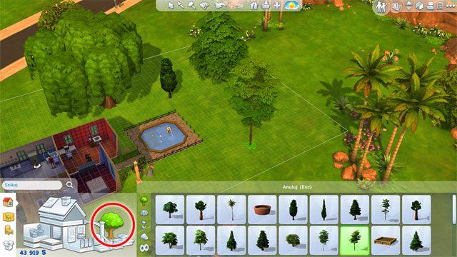 Nie zapomnij o zieleni: o krzewach, drzewach, kwiatach, alejkach, fontannach itp - Rozbudowa domu | Dom Sima - The Sims 4 - poradnik do gry