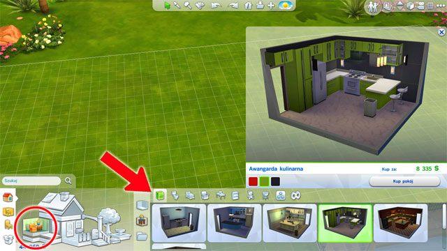 Jeśli nie masz weny by wykańczać i urządzać swój dom możesz skorzystać z jeszcze jednego narzędzia - to gotowe pomieszczenia - Rozbudowa domu | Dom Sima - The Sims 4 - poradnik do gry