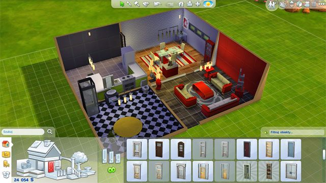 W ten sposób możesz zakupić każde podstawowe pomieszczenie - jedyne czego musisz pilnować to umiejscowienie drzwi i możliwość dobrego poruszania się po pomieszczeniach - Rozbudowa domu | Dom Sima - The Sims 4 - poradnik do gry