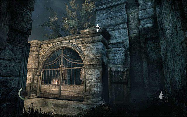 Skrzynia, dzięki której można dotrzeć na mur - Spotkanie się z Erin na dachu - Prolog - Thief - poradnik do gry