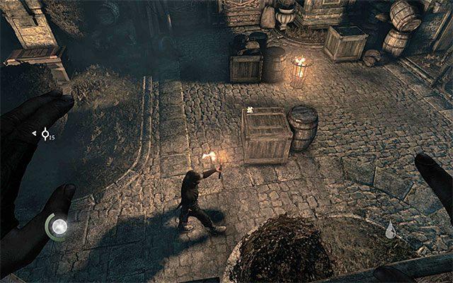 Uważaj na przeciwnika z pochodnią - Spotkanie się z Erin na dachu - Prolog - Thief - poradnik do gry