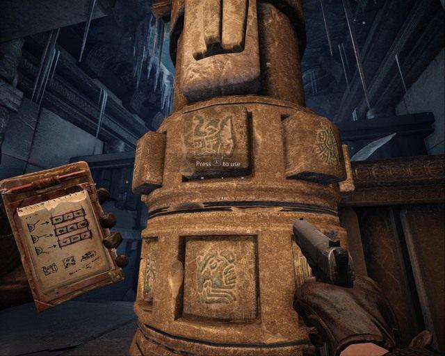 Musisz tutaj w�a�ciwie ustawi� znaki - Ice Temple - Opis przej�cia - Deadfall Adventures - poradnik do gry