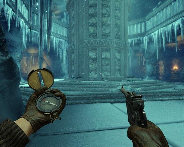 To winda, gdy na piedestale położysz posążek pojedzie w górę - Ice Temple - Opis przejścia - Deadfall Adventures - poradnik do gry
