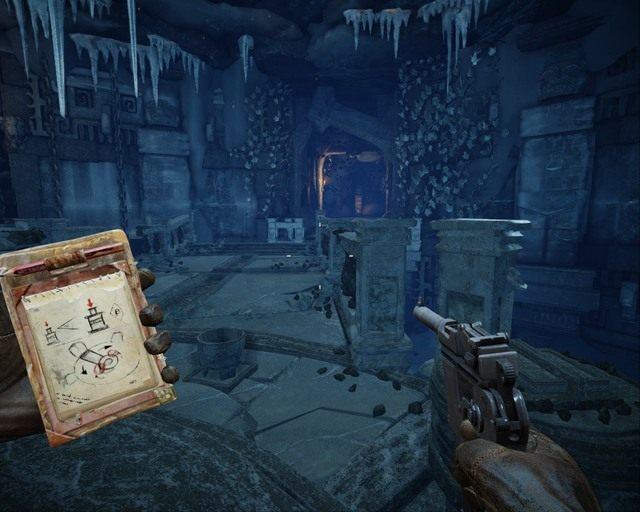 Po znalezieniu czaszek włóż je do mis które masz przed sobą - Ice Temple - Opis przejścia - Deadfall Adventures - poradnik do gry