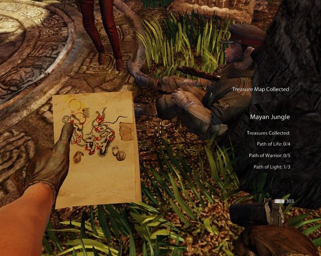 Znaleziona mapa b�dzie pomocna - Mayan Jungle - Opis przej�cia - Deadfall Adventures - poradnik do gry