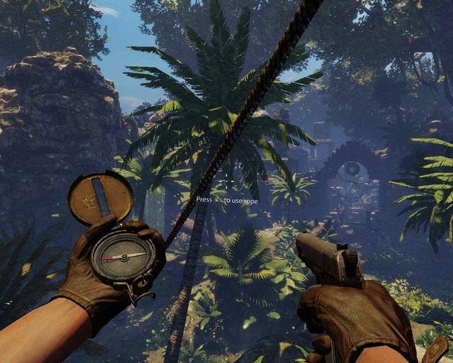 Przeja�d�ka linowa zabierze ci� dalej - Mayan Jungle - Opis przej�cia - Deadfall Adventures - poradnik do gry