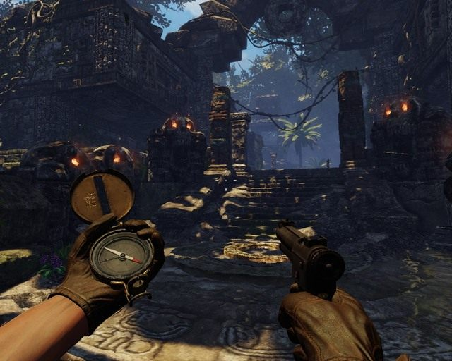 Niekt�rzy to maja gust, id� ca�y czas t� drog� uwa�aj�c na pu�apki - Mayan Jungle - Opis przej�cia - Deadfall Adventures - poradnik do gry