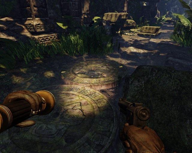 Droga usłana jest wieloma pułapkami, na szczęście część już nie działa - Mayan Jungle - Opis przejścia - Deadfall Adventures - poradnik do gry