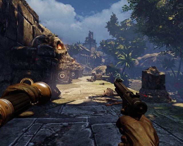 Dzi�ki w��cznikom po twojej stronie mo�esz sobie pom�c w eliminacji Niemc�w. - Mayan Jungle - Opis przej�cia - Deadfall Adventures - poradnik do gry