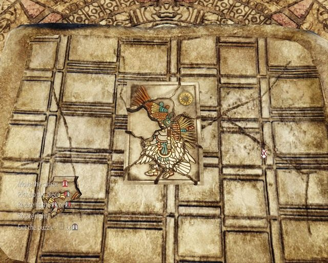 Pojawi si� minigierka, kt�ra b�dzie polega�a na u�o�eniu wszystkich puzzli na odpowiednich miejscach - Mayan Jungle - Opis przej�cia - Deadfall Adventures - poradnik do gry