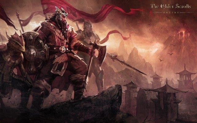 Król Jorunn w towarzystwie swoich argoniańskich i dunmerskich sojuszników. - Pakt Ebonheart (Ebonheart Pact)   Frakcje i rasy - The Elder Scrolls Online - poradnik do gry