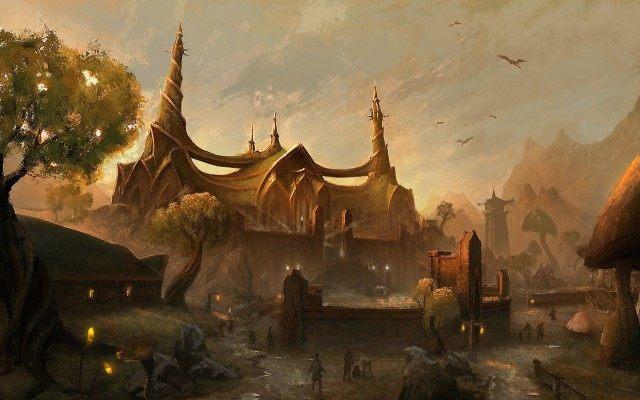 Świątynia Trójcy w Twierdzy Smutku, siedzibie Wielkiego Zgromadzenia. - Pakt Ebonheart (Ebonheart Pact)   Frakcje i rasy - The Elder Scrolls Online - poradnik do gry