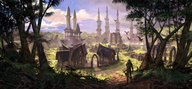 Elden Root, zlokalizowana w Puszczy Valen stolica Dominium. - Aldmerskie Dominium (Aldmeri Dominion)   Frakcje i rasy - The Elder Scrolls Online - poradnik do gry