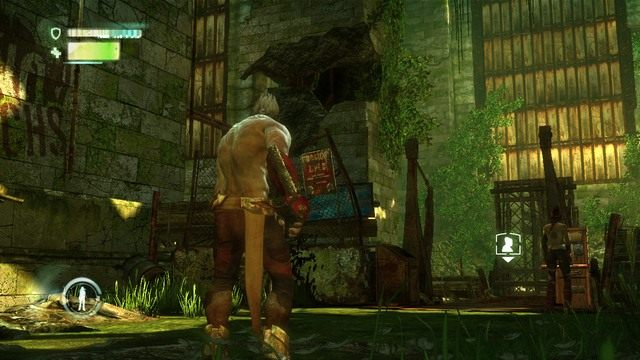 Most i rura po lewej - Chapter 2 - The Old City - Enslaved: Odyssey to the West - poradnik do gry