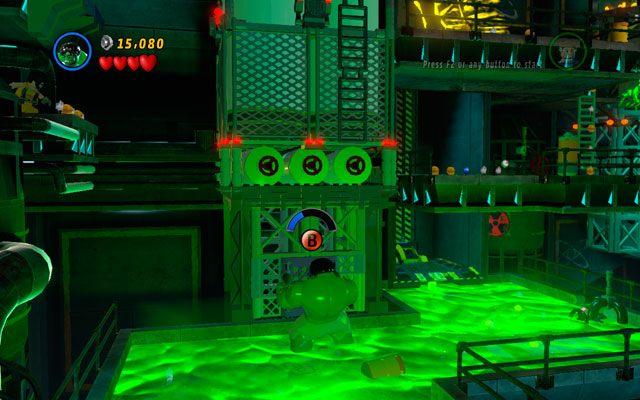 Jako Hulk zmasakruj wrog�w, po czym wejd� do kolejnej truj�cej ka�u�y - tym razem naprzeciwko - Taking Liberties - Opis przej�cia - LEGO Marvel Super Heroes - poradnik do gry