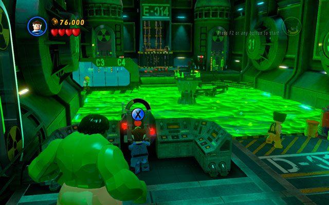 Przechodząc dalej trafisz do wielkiego zbiornika z trucizną - Taking Liberties - Opis przejścia - LEGO Marvel Super Heroes - poradnik do gry