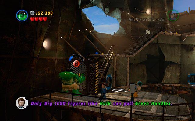 Jako Pan Fantastyczny przejd� przez kana� wentylacyjny, by po drugiej stronie budowli zniszczy� zwitek metalu i z niego zbudowa� platform� - Taking Liberties - Opis przej�cia - LEGO Marvel Super Heroes - poradnik do gry