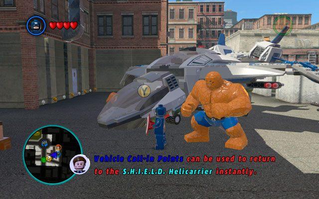 Po raz kolejny musisz zeskoczy� z lotniskowca S - S.H.I.E.L.D. Helicarrier 5 / Nowy Jork - Opis przej�cia - LEGO Marvel Super Heroes - poradnik do gry