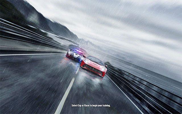 Okno wyboru - Wybór trybu kariery - Need for Speed Rivals - poradnik do gry
