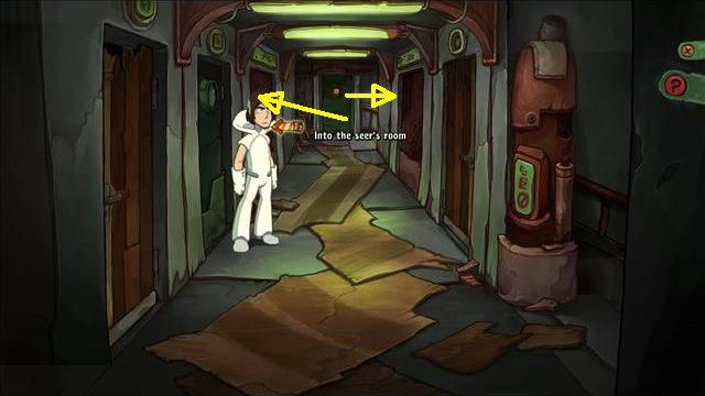 Obrażony Rufus wyjdzie z pokoju, a Goal podąży za nim - Wydostań się z hotelowej pułapki - Hotel - Goodbye Deponia - poradnik do gry