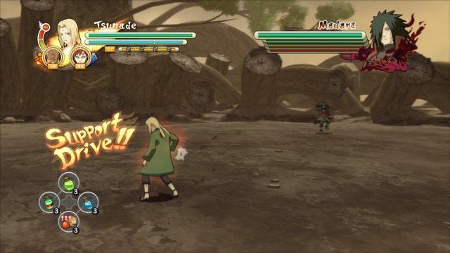 Jeśli pasek Supportów będzie maksymalny można wykonać Team Ultimate Jutsu - Walka - Naruto Shippuden: Ultimate Ninja Storm 3 Full Burst - poradnik do gry