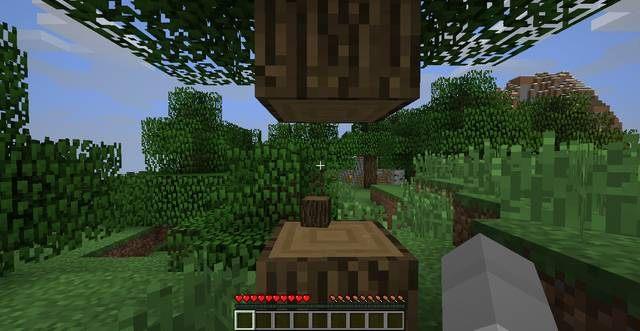 Zbierz drewno - Pierwszy dzień - Jak przeżyć - poradnik surwiwalu - Minecraft - poradnik do gry