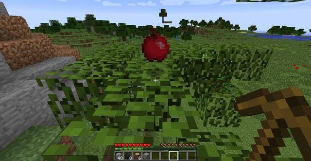 Jabłko - Pierwszy dzień w Minecraft | Jak przeżyć - poradnik surwiwalu - Minecraft - poradnik do gry