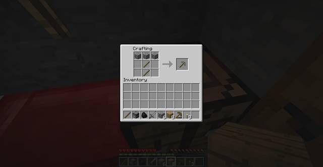 Kilof z kamienia - Drugi dzień w Minecraft | Jak przeżyć - poradnik surwiwalu - Minecraft - poradnik do gry
