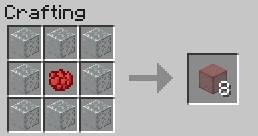 how to make red glass in minecraft