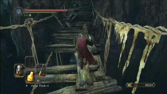 Uważaj na dziury w moście - Huntsmans Copse - droga do Undead Purgatory - Opis przejścia - Dark Souls II - poradnik, opis przejścia, bossowie