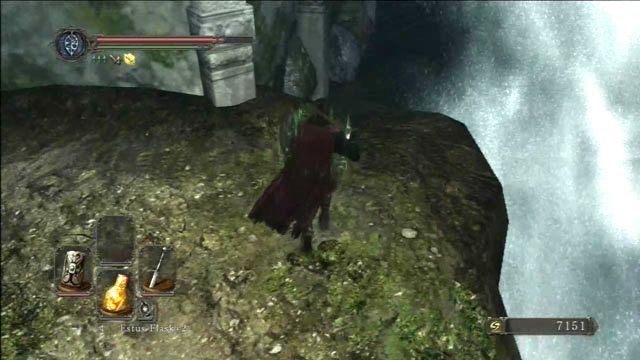 Przejdź pod wodospadem - Huntsmans Copse - droga przez góry - Opis przejścia - Dark Souls II - poradnik, opis przejścia, bossowie
