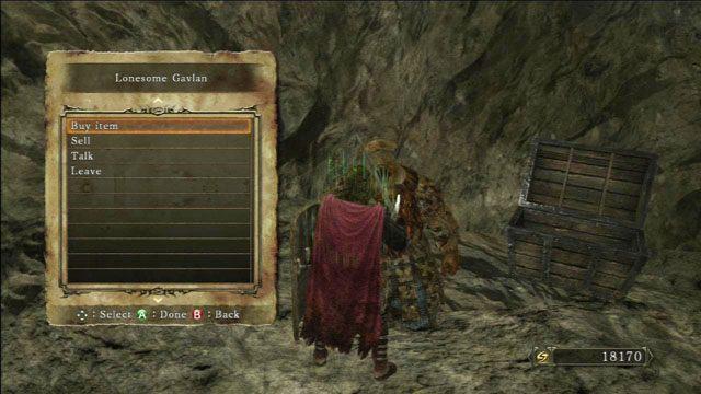 U Gavlana możesz kupować i sprzedawać - Harvest Valley - Opis przejścia - Dark Souls II - poradnik, opis przejścia, bossowie