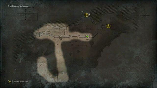 Trzeci, mniejszy bunkier na mapie - Sztab Trupiej Główki - Misje Główne - Wolfenstein: The New Order - poradnik do gry