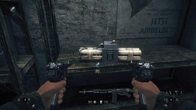 Bomba którą możesz rozwalić drzwi do bunkra - Sztab Trupiej Główki - Misje Główne - Wolfenstein: The New Order - poradnik do gry