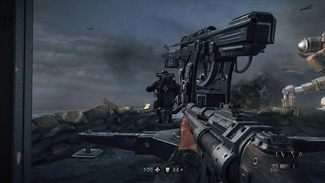 Pierwsze działo - Sztab Trupiej Główki - Misje Główne - Wolfenstein: The New Order - poradnik do gry