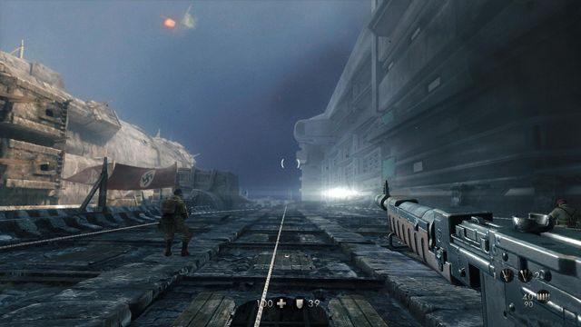 Wspinaczka po murze - Sztab Trupiej Główki - Misje Główne - Wolfenstein: The New Order - poradnik do gry