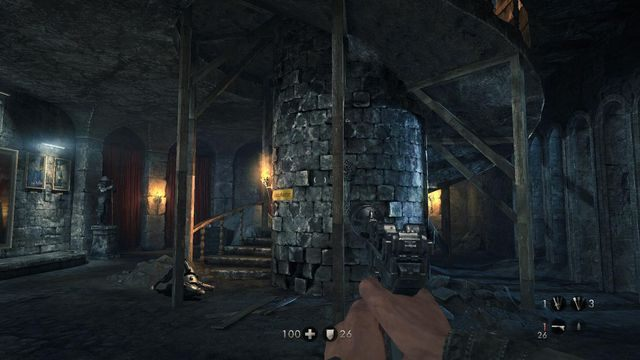 Schody na piętro - Sztab Trupiej Główki - Misje Główne - Wolfenstein: The New Order - poradnik do gry