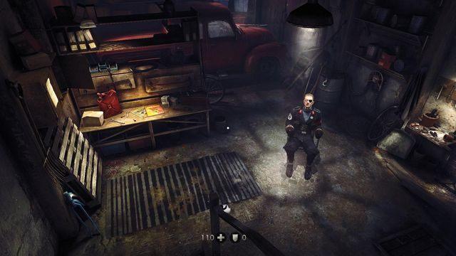 Początek gry, w tym pomieszczeniu znajdują się też dwa sekrety - Nowy świat - Misje Główne - Wolfenstein: The New Order - poradnik do gry