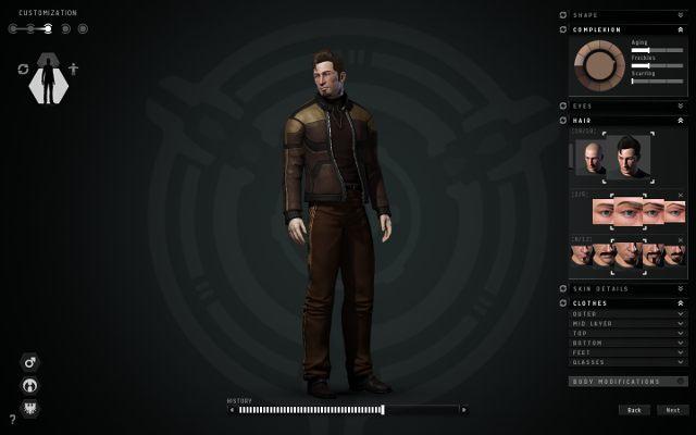 W tym kroku możesz dokładnie sprecyzować wygląd swojej postaci - Tworzenie postaci - Pierwsze kroki - EVE Online - poradnik do gry