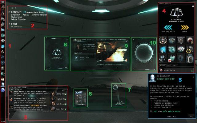 Elementy dostępne zawsze - Pierwsze wrażenia - Pierwsze kroki - EVE Online - poradnik do gry