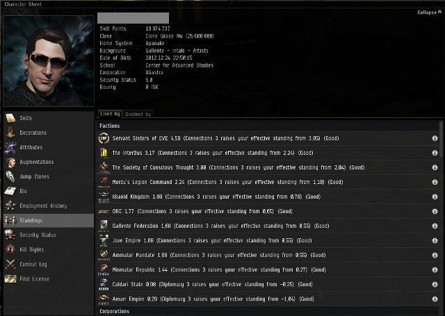 Dostępna jest po kliknięciu na portret na pasku NEOCOM - Ważne elementy interfejsu - Pierwsze kroki - EVE Online - poradnik do gry